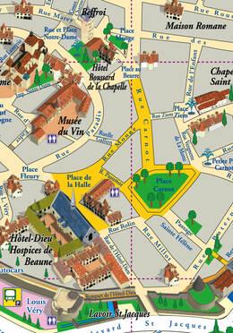 Im Stadtzentrum von Beaune: Maskenpflicht