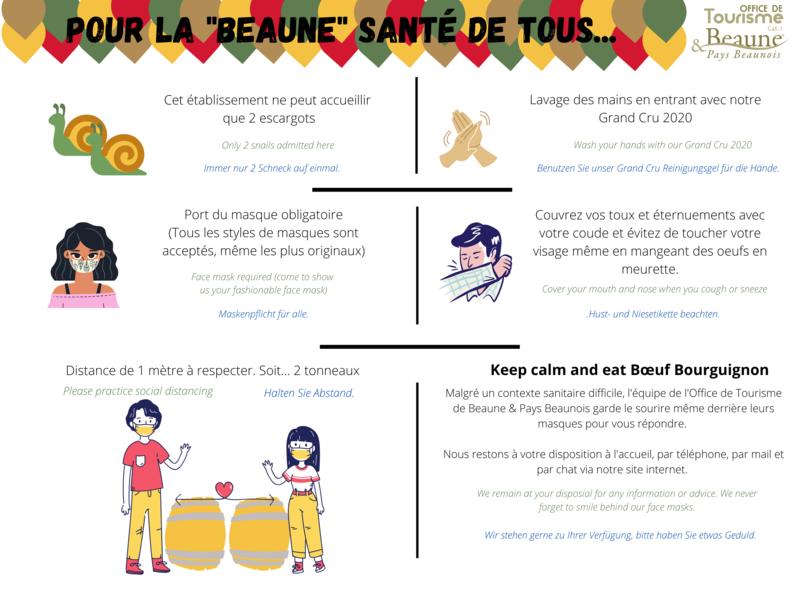 INFORMATION zum COVID- Beaune - Bourgogne