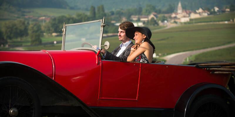 Bugatti dans les vignes