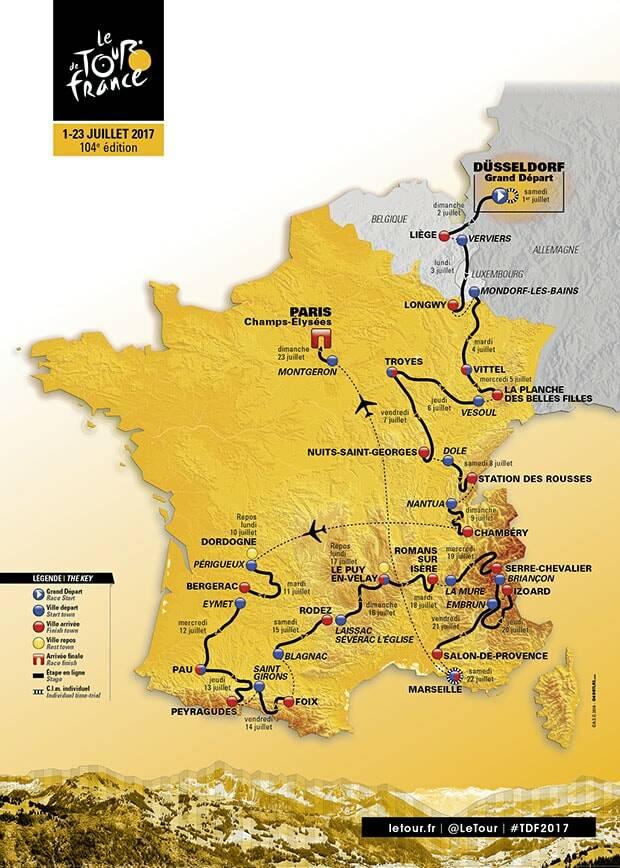 Die Tour de France 2017 in Burgund-Franche-Comté | Offizielle ...